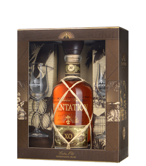 Rum Plantation ext.old 20r. 40% 0,7L+2pohare