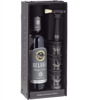 BELUGA vodka Gold Line leather set 40% 0,7L BOX